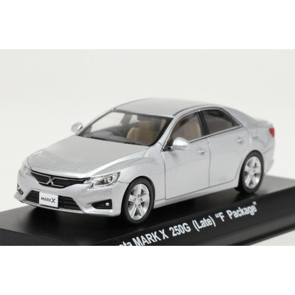 """<セール> Kyosho 1/43 Toyota MARK X 250G (Late) """"F Package"""" Silver"""