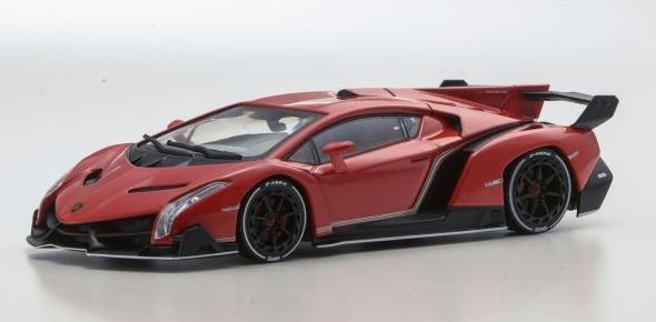 <セール> Kyosho 1/43 Lamborghini Veneno (Red Pearl/White Line)