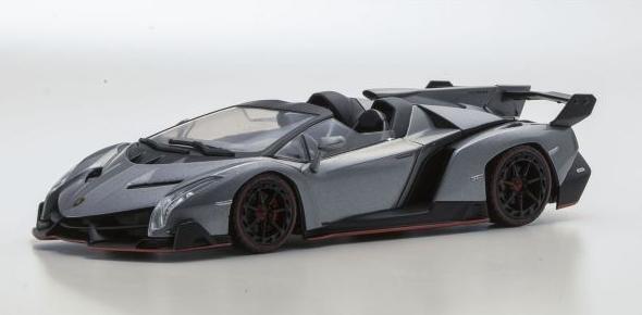 <セール> Kyosho 1/43 Lamborghini Veneno Roadster (Gray/Red Line)