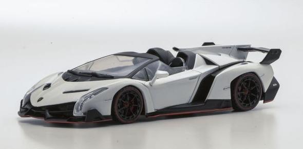 <セール> Kyosho 1/43 Lamborghini Veneno Roadster (White/Red Line)