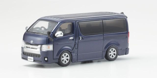 Kyosho 1/64 トヨタ ハイエース 2014 Dark Blue