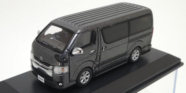 Kyosho 1/64 トヨタ ハイエース 2014 Gray