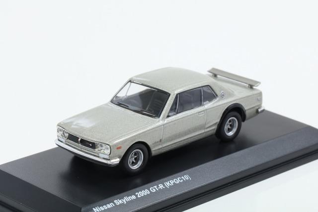 Kyosho 1/64 日産 スカイライン 2000 GT-R KPGC10 シルバー 宮沢模型流通限定