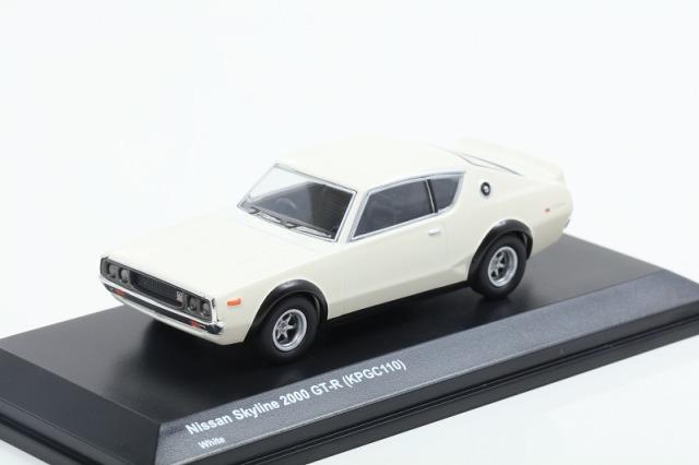 Kyosho 1/64 日産 スカイライン 2000 GT-R KPGC110 ホワイト 宮沢模型流通限定