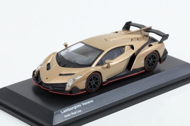 Kyosho 1/64 Lamborghini Veneno Gold/Red Line ※ブンカ特注モデル