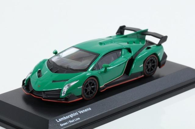 Kyosho 1/64 Lamborghini Veneno Green/Red Line ※ブンカ特注モデル
