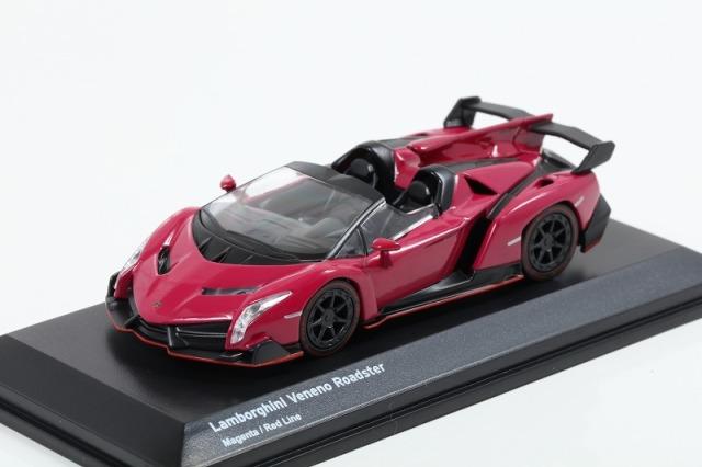 Kyosho 1/64 Lamborghini Veneno Magenta/Red Line ※ブンカ特注モデル