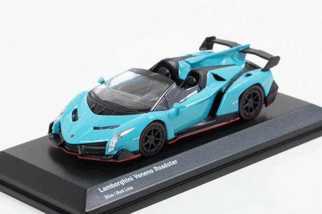 Kyosho 1/64 Lamborghini Veneno Blue / Red Line ※ブンカ特注モデル