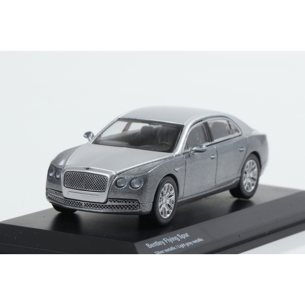 【Kyosho】 1/64 Bentley Flying Spur Silver metallic / Light gray metallic
