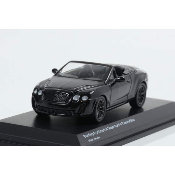 【Kyosho】 1/64 Bentley Continental Supersports Convertible Black metallic