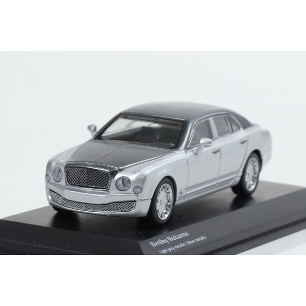 【Kyosho】 1/64 Bentley Mulsanne Light gray metallic / Silver metallic