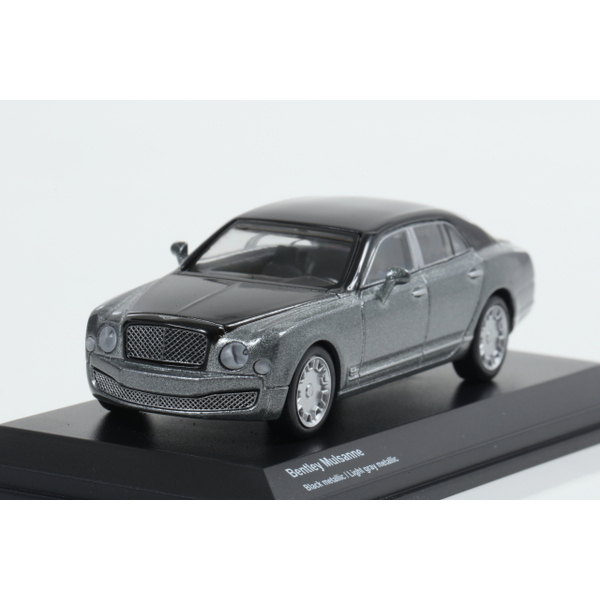 【Kyosho】 1/64 Bentley Mulsanne Black metallic / Light gray metallic