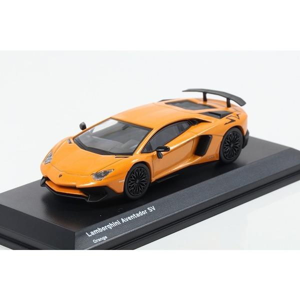 【Kyosho】 1/64 Lamborghini Aventador SV Orange ※ブンカ流通限定