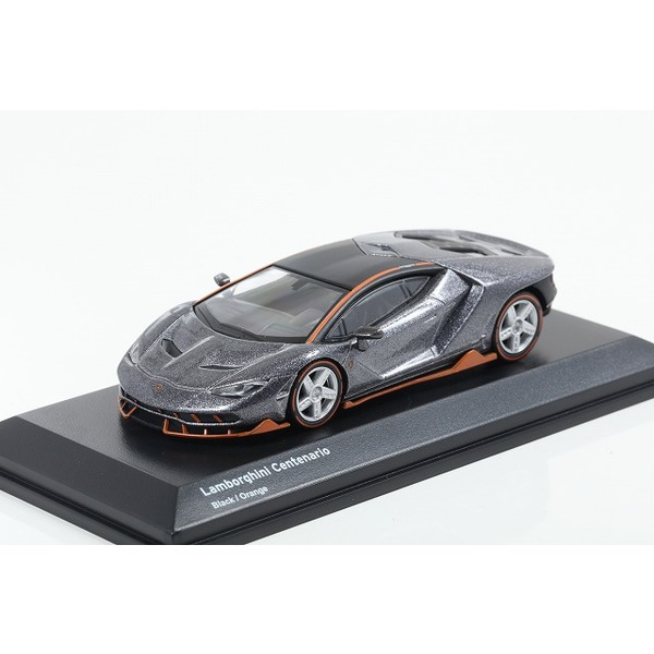 【Kyosho】 1/64 Lamborghini Centenario Black/Orange ※ブンカ流通限定
