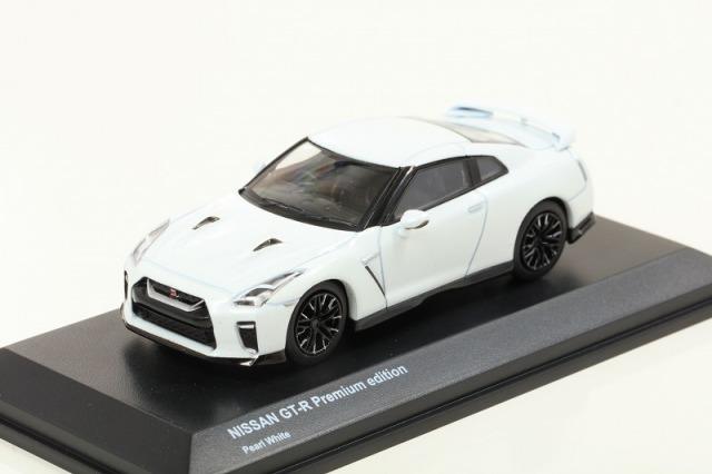 Kyosho 1/64 Nissan GT-R Premium edition Perl White 宮沢模型流通限定