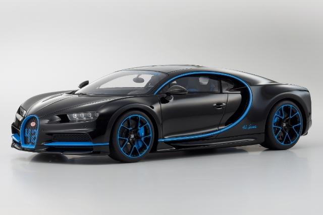 <セール 12月21日まで> Kyosho 1/12 Bugatti Chiron 42 Edition (Black / Blue)