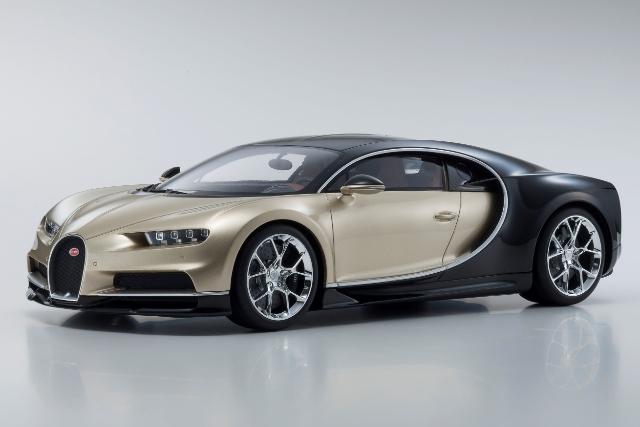 <セール 12月21日まで> Kyosho 1/12 Bugatti Chiron (Gold / Black)