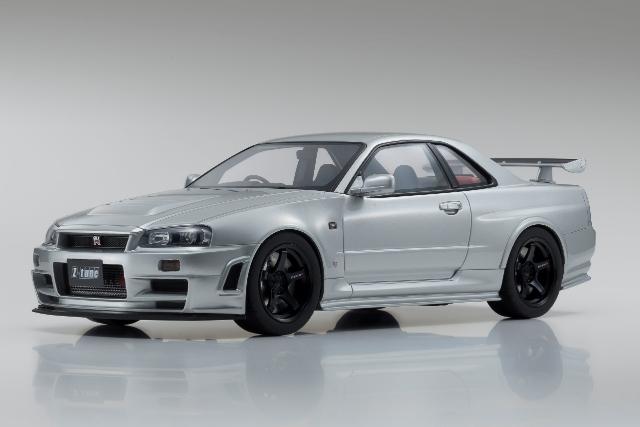 【Kyosho】 1/12 ニスモ R34 GT-R Z-tune (シルバー)限定700台 ※サムライ シリーズ