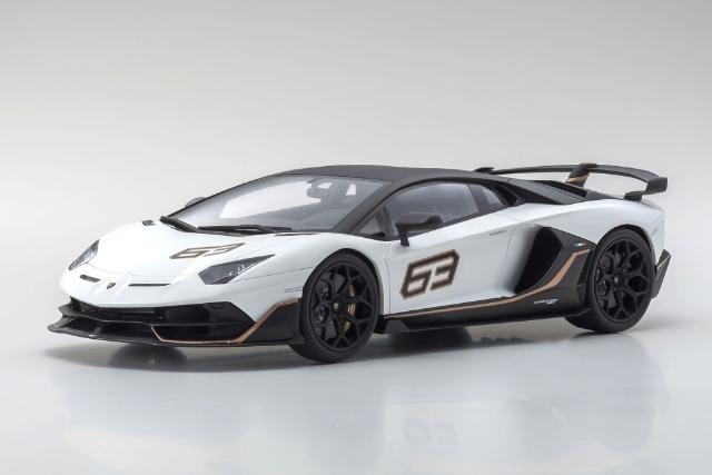 <セール 12月21日まで> Kyosho 1/18 Lamborghini Aventador SVJ (White)