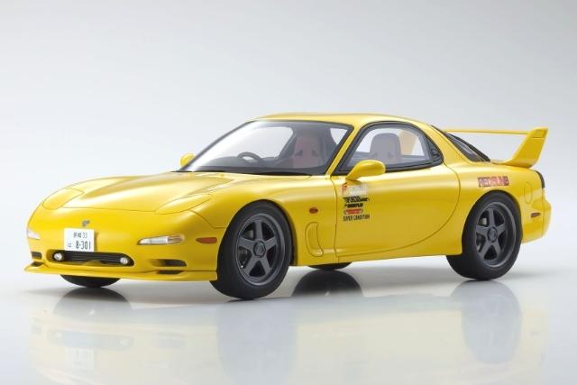 <セール 12月21日まで> Kyosho 1/18 Initial D Mazda RX-7 FD3S Yellow