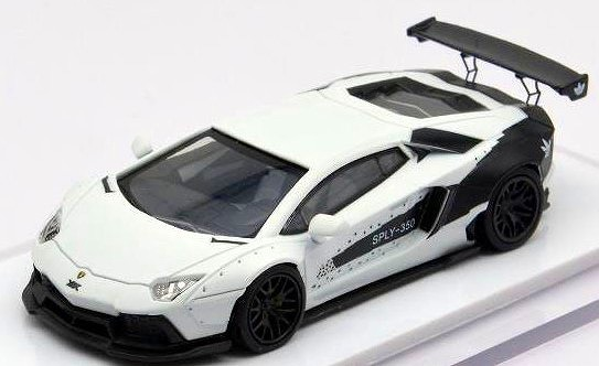 LB PERFORMANCE 1/64 LIBERTY WALK LB-WORKS アヴェンタドール LP700 White/Black