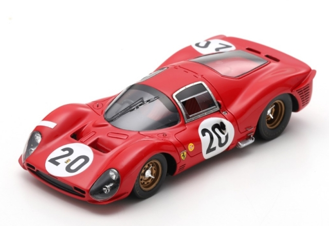 Looksmart 1/43 Ferrari 330 P3 No.20 24H Le Mans 1966 L. Scarfiotti - M. Parkes
