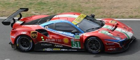 LOOKSMART 1/43 Ferrari 488 GTE EVO No.51 AF Corse 24H Le Mans 2020
