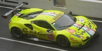 LOOKSMART 1/43 Ferrari 488 GTE EVO No.70 MR Racing 24H Le Mans 2020
