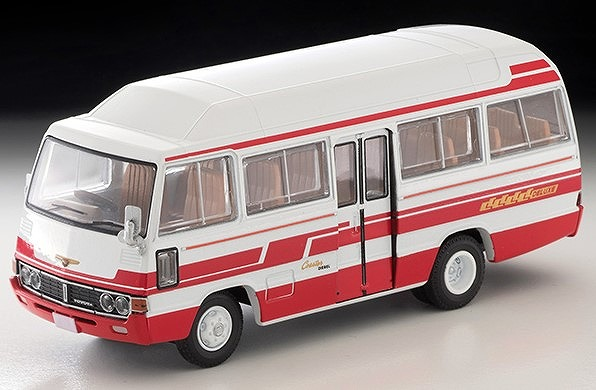 TOMICA LIMITED VINTAGE 1/64 トヨタ コースター ハイルーフ デラックス車(白/赤)