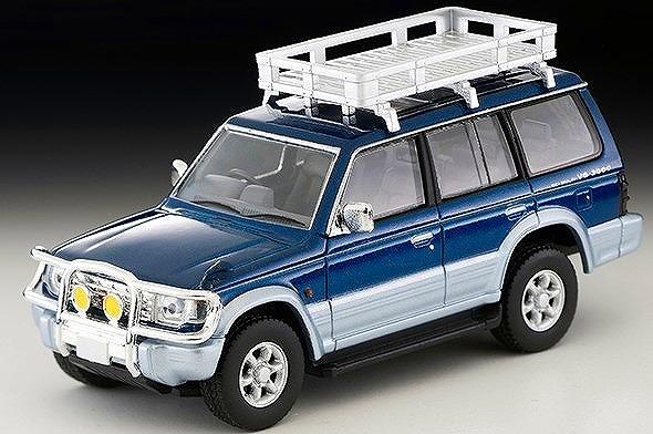 TOMICA LIMITED VINTAGE NEO 1/64 三菱パジェロ ミッドルーフワイドVR(オプションパーツ装着車)94年式(青/銀)