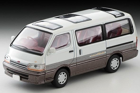 <予約> [TOMICA LIMITED VINTAGE NEO] 1/64 トヨタ ハイエースワゴン 2.4 スーパーカスタムリミテッド 92年式(白/茶)