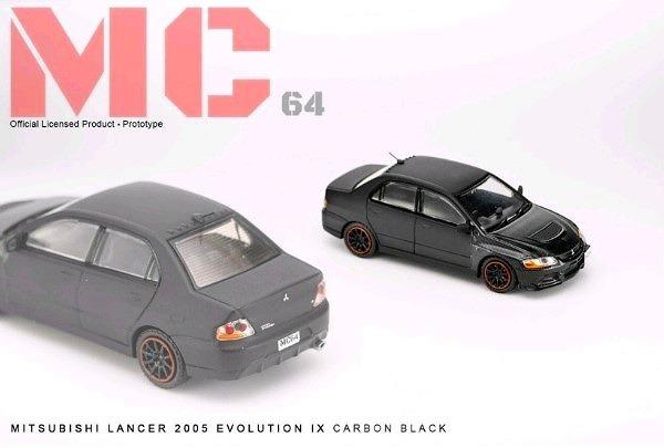 MC64 1/64 Mitsubishi LANCER EVOLUTION IX 2005 CARBON BLACK 限定600