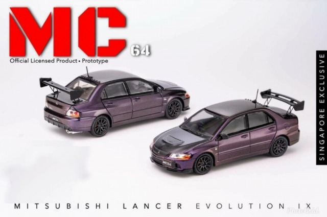 MC64 1/64 Mitsubishi Lancer Evolution IX  シンガポール限定