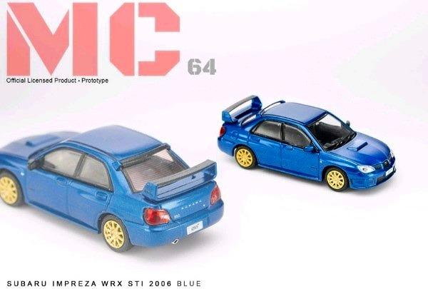 MC64 1/64 SUBARU IMPREZA WRX STI 2006 BLUE  限定700