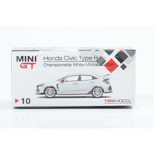 【MINI GT】 1/64 ホンダ シビック タイプR チャンピオンシップホワイト モデューロキット装着車