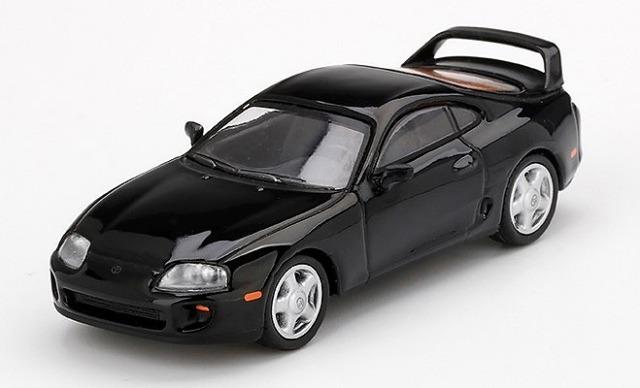 MINI GT 1/64 Toyota スープラ(JZA80) ブラック(右ハンドル)