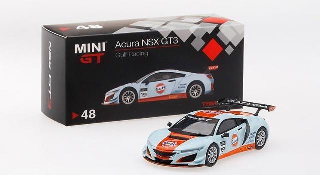 MINI GT 1/64 Acura NSX GT3 Gulf Racing USA限定