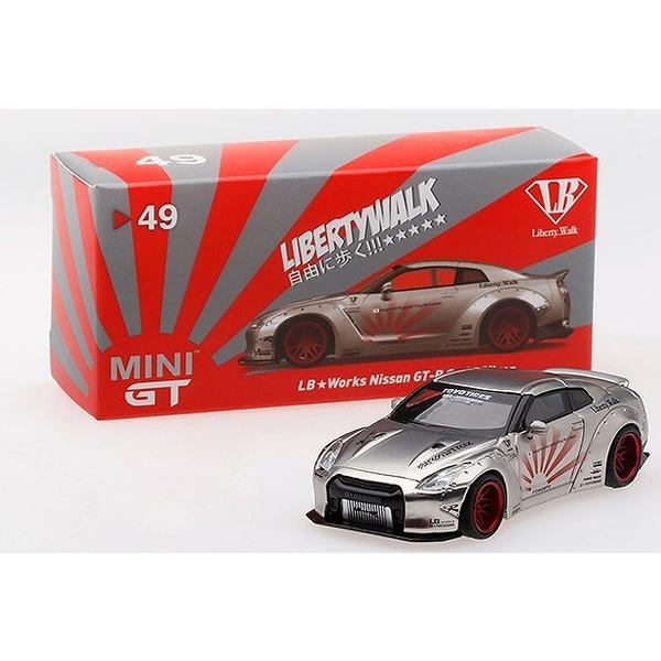 【MINI GT】 1/64 LB★WORKS Nissan GT-R (R35) Satin Silver RHD