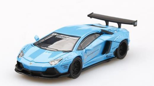 [MINI GT] 1/64 LB Works Lamborghini Aventador Light Blue (左ハンドル)
