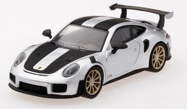 [MINI GT] 1/64 ポルシェ 991ターボ GT2RS シルバーメタリック 左ハンドル
