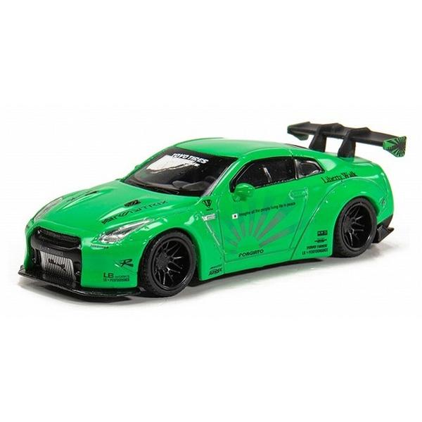 【MINI GT】 1/64 LB☆WORKS Nissan GT-R R35 タイプ1 リアウィングVer 1 ライトグリーン フィリピン限定