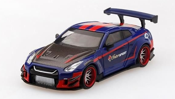 MINI GT 1/64 LB WORKS Nissan GT-R R35 Type 2, Rear Wing ver 3 40th anniversary edition by INTERSPORT *インドネシア特注