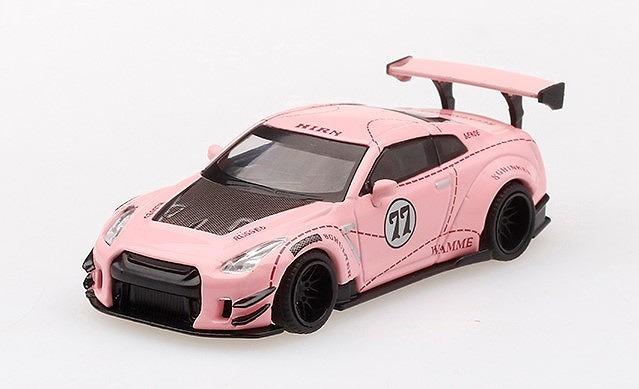 MINI GT 1/64 LB★WORKS 日産 GT-R R35 タイプ2 リアウイング バージョン3 ピンクピッグ 右ハンドル