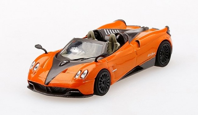 [MINI GT] 1/64 パガーニ ウアイラ ロードスター オレンジ/ブラック 左ハンドル