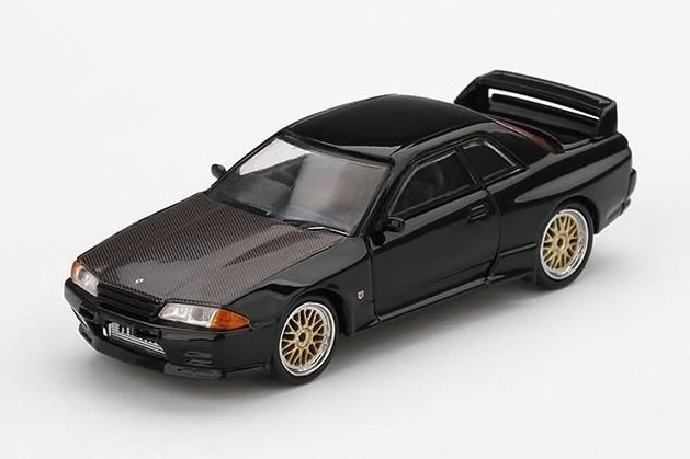 MINI GT 1/64 Nissan GT-R R32 ブラック BBS LMホイール(右ハンドル)