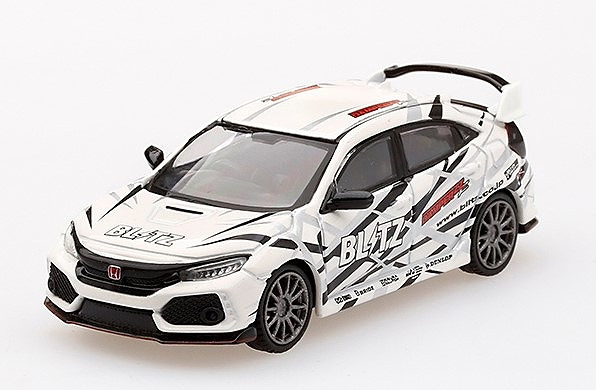 MINI GT 1/64 Honda Civic Type R (FK8) Blitz Type R White