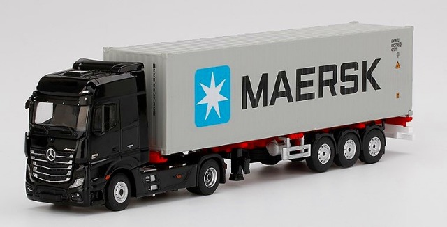 MINI GT 1/64 Mercedes-Benz Actros With 40 Ft Container