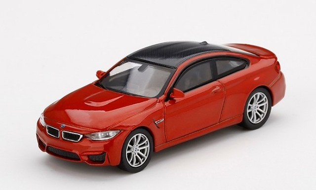 MINI GT 1/64 BMW M4 (F82) サキールオレンジ (左ハンドル)