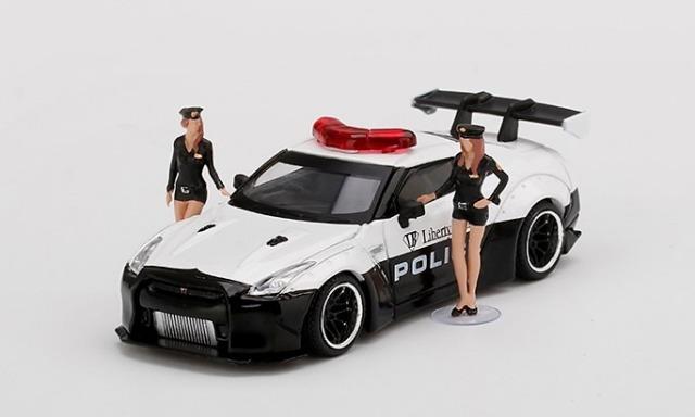 MINI GT 1/64 LB★WORKS Nissan GT-R (R35) LB★WORKS Police
