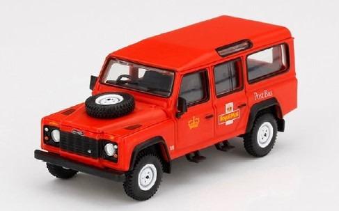 MINI GT 1/64 ランドローバー ディフェンダー 110 イギリス 郵便バス(ロイヤルメール)(右ハンドル)